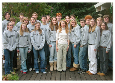 Sharon and her students 2006